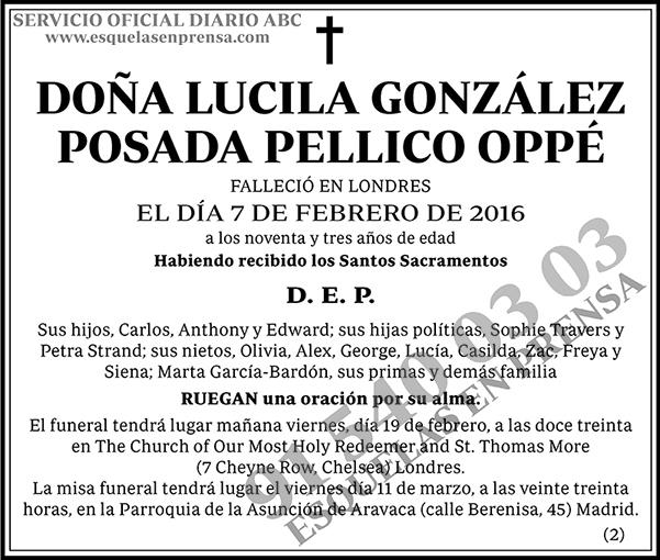 Lucila González Posada Pellico Oppé